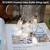 Offer for ECOWHO LED String Lights Battery Powered, 7.2 ft 20 LEDs White Vintage Clear Glass Jar Starry Fairy Lights for Christmas, Happy New Year, Garden, Party, Bedroom