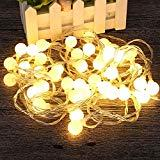 Offer for HITASION 6M/19.6FT 40 Globe String Light 2 Switch Modes Starry Fairy Battery Operated Lights for Bedroom,Christmas,Parties,Wedding,Home Decoration (Warm White)