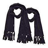 Offer for Wantdo Daily Wear Winter Outdoors Scarfs Long Muffler for Camping and Mountaineering Anthracite (2 Pack)