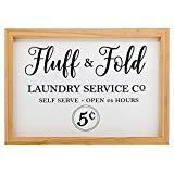 Offer for Barnyard Designs Fluff & Fold Laundry Service Sign Laundry Room Wall Decor 16