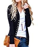 Offer for Tooklanet Women's Color Block Long Sleeve Casual Shirt Lightweight Tunic (XX-Large, Black-04)