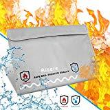 Offer for [Today�s Deal] Fireproof Document Bags - Fireproof Safe - Aitere New Version Fireproof Envelope for Documents Non-Itchy Liquid Silicone Coated Fire & Water ResistantMoney Bag Fireproof Safe Storage