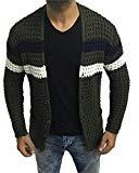 Offer for Hestenve Mens Cardigan Sweaters Open Front Cable Knit Long Sleeve Shawl Collar Coat Cardigans Army Green