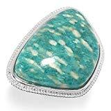 Offer for Pinctore Sterling Silver 27 x 19mm Amazonite Ring