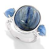 Offer for Pinctore Sterling Silver Multi Shape Kyanite 3-Stone Ring
