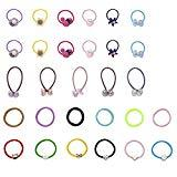 Offer for Girls and Women Elastic Hair Bands for Girls Elastic Hair bands Girl Baby's Elastic Hair Ties Tiny Soft Rubber Bands for Baby Kids for Girls Hair accessories Hair Ties women's hair 29PCS