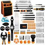 Offer for Jakemy Screwdriver Set, All in 1 with 50 Magnetic Precision Driver Bits, Repair Tool kit with Pocket Tool Bag for iPhone, Computer, Macbook, Cell Phone, PC, Laptop, Tablet, Game Console (107-IN-1)
