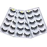 Offer for Huapan 3D Faux Mink Lashes: 15 Pairs of Fake Eyelashes with Lash Applicator