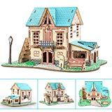 Offer for Apelila 3D Puzzles for Kids and Adults-New DIY Education Toy Wooden Model Puzzle ((Green Castle))