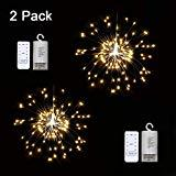 Offer for 2 Pack LED Decor Firework String Lights, 150 LED Dimmable Fairy Lights, Twinkle Starburst Lights, Waterproof Battery Operated with Remote Control for Home, Patio, Parties, Wedding