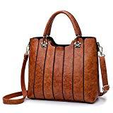 Offer for Ladies Leather Bag with Top Handles - Women Handbag and Purse