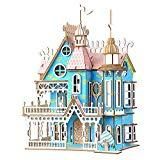 Offer for Apelila 3D Puzzles for Kids and Adults-New DIY Education Toy Wooden Model Puzzle(Blue Castle)