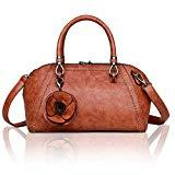 Offer for rofozzi Top Handle Vegan Leather Hand Bag Purse for Women with Crossbody Strap