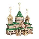 Offer for Apelila 3D Puzzles for Kids and Adults-New DIY Education Toy Wooden Model Puzzle(Green House)