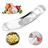 Offer for Garlic Press - Store Stainless Steel Garlic Press - Made of professional grade steel - Cooking ingredients has never been easier -Silver,Life Collection