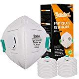 Disposable Dust Mask 20 Pack, NIOSH Certified, Safety N95 Respirator Mask  with Exhalation Valve, Multi-Layer Protection