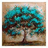 Offer for DIY 5D Diamond Painting Rhinestone Landscape Tree Pictures by Number Kit for Adult, Full Drill Diamond Embroidery Dotz Kit Home Wall Decor-15.7x15.7