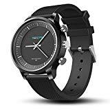 Offer for Time Owner Hybrid Watch (43mm) - Stylish Quartz Watch with Smart Functions, Activity Tracking, Notification Reminder, SOS, Water Resistant Wrist Watch (Black)
