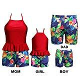 Offer for Dad and Me Swim Set Family Swimsuit Tropical Pineapple Matching Swimming Trunks for Men Large Size