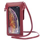 Offer for LefRight Crossbody Cell Phone Purse Bag Phone Case Holder Wallet Touch Screen Window Design