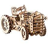 Offer for ROKR Mechanical Tractor 3D Wooden Puzzle Self-Assembly Model Kit Brainteaser for Teens and Adults