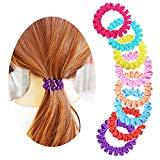 Offer for Spiral Hair Ties, No Crease Elastic Ponytail Holders Hair Ring, Phone Cord Traceless Hair Rubber Bands-8PCS #2