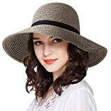 Offer for FURTALK Women Brim Sun Hat Summer Beach Cap UPF50 UV Packable Straw Hat for Travel (Large Size, Adult NormalBrim Mix Khaki)