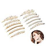 Offer for Bkpearl 12 Pcs Pearls Hair Clips, Handmade Decorative Hair Pins Hair Barrettes Hairpins for Girls Women Lady Bridal Weeding Valentines Day