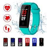 Offer for Kirlor Fitness Tracker, Colorful Screen Smart Bracelet with Heart Rate Blood Pressure Monitor,Smart Watch Pedometer Activity Tracker Bluetooth for Android & iOS (Green)