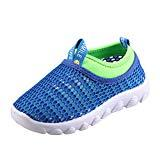 Offer for CIOR Toddler Kids Water Shoes Breathable Mesh Running Sneakers Sandals for Boys Girls Running Pool BeachU118STWX001,Blue,33