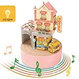 Offer for CubicFun 3D Puzzle Mini Dollhouse Music Box with LED Light Handmade Craft Kit, Holiday Town