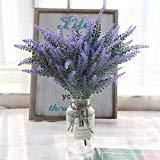 Offer for famibay Artificial Lavender Flowers 6 Bundles Fake Lavender Flowers Arrangement for Wedding Home Hotel Office Table Wedding Party Garden Floral Decoration (Purple Set of 6)