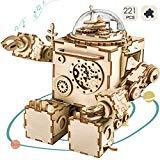 Offer for ROKR DIY Robot Toy Figures 3D Wooden Puzzle Musical Box Machinarium Craft Kit Gifts for Boys and Girls