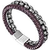 Offer for murtoo Mens Bracelet Leather and Steel, Stainless Steel Chain and Leather Bracelets for Men (Coffee)