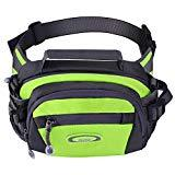 Offer for Y&R Direct Fanny Pack Waist Bag Packs Large Running Belt Bum Purse Bags with Bottle Holder Extension Strap Women Men Boy Girls Kids Gifts Waterproof Multicolor Outdoor Walking Hiking (Green)