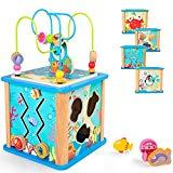 Offer for rolimate Preschool Learning Cube Toy, Baby Educational Wooden Toy Box for Age 18 Months Girls and Boys