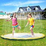 Offer for Pellor Sprinkler Water Pad,Multi-Size Kids Outdoor Thickening PVC Water Spray Pad Summer Outdoor Patio Sprinkler Pad (170cm)