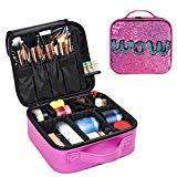 Offer for Flip Sequin Travel Makeup Train Case Bags Portable Colorful Bling Sequins Make up Bag Makeup Organizer Bag for Women and Grils ...