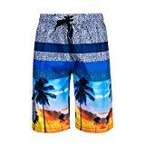 Offer for DRSLPAR Mens Quick Dry Swim Trunks Drawstring Beach Board Shorts with Mesh Lining S
