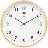 Offer for HIPPIH Silent Wall Clock - 8 Inch Non Ticking Digital Quiet Sweep Decorative Vintage Wooden Clocks Easy to Read for Office/Kitchen/Bedroom/Living Room/Classroom, Upgraded