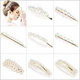 Offer for YZHI Hair Clips Pearl for Women Girls Hair Pins Gold Clips for Wedding Party Daily Life (8pcs)