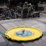 Offer for Yeslike 67in-Diameter Sprinkle and Splash Play Mat for Kids Summer Gifts