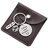 Offer for College Graduation Gifts for Him - Follow Your Dreams Inspirational Keyrings