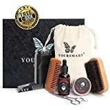 Offer for Yoursmart Beard Care Kit - Mens Beard Grooming Set Includes Beard Oil, Beard Wax, Mustache Scissors, Wood Beard Comb, Brush and Beard Shaping