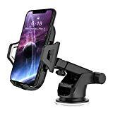 Offer for Car Phone Mount Smart Phone Holder for Car 2 in 1 Dashboard Windshield & Air Vent Universal Fit Mobile Phone Cradle with Adjustable Knob One Click Release Button for iPhone Xs MAX XR X Samsung (Black)