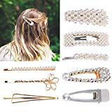 Offer for pearl hairpin,pearl hair clip,hair styling pins,hair barrette,hair clips barrette,diamond clips,diamond hairpin,hair accessory for girls wedding,bridal ornaments,gifts for women,girl gifts 6 pcs