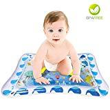 Offer for Inflatable Tummy Time Water Mat for Infants & Toddlers - The Perfect Inflatable Baby Water Mat Fun Time Play Activity for Your Baby's Stimulation Growth
