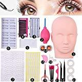 Offer for False Eyelashes Extensions Practice Training Mannequin Head Set for Beginners Makeup Training Eyelash Graft (#2)