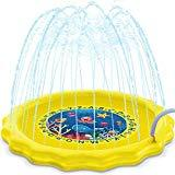Offer for HISTOYE Outdoor Sprinkle Play Mat Summer Sprinklers for Kids 63