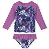 Offer for ALOOCA Toddler Girls 2-Piece Rash Guard Swimsuit Set Long Sleeve 2T